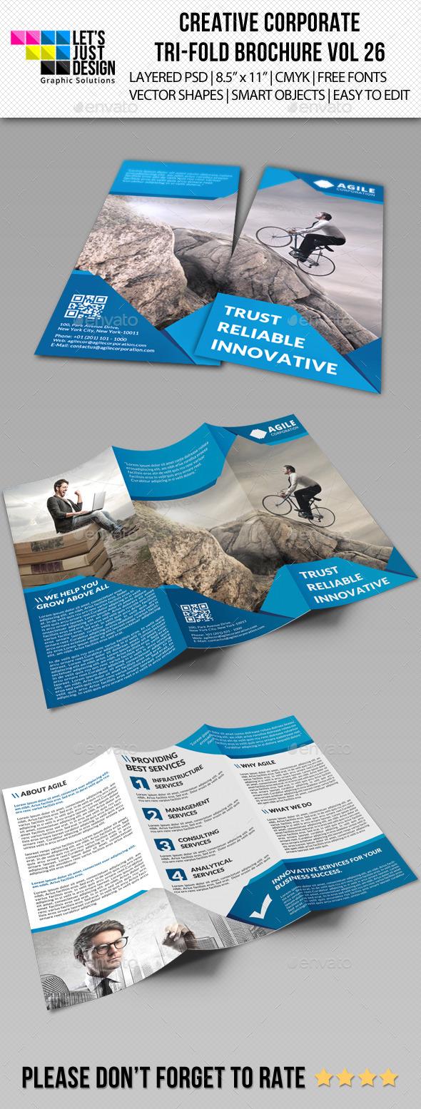 Creative Corporate Tri-Fold Brochure Vol 26 - Corporate Brochures