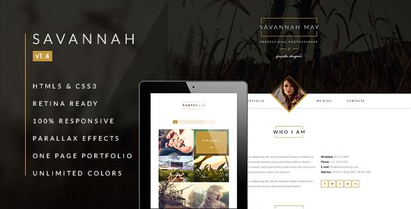 Savannah - Responsive vCard Portfolio