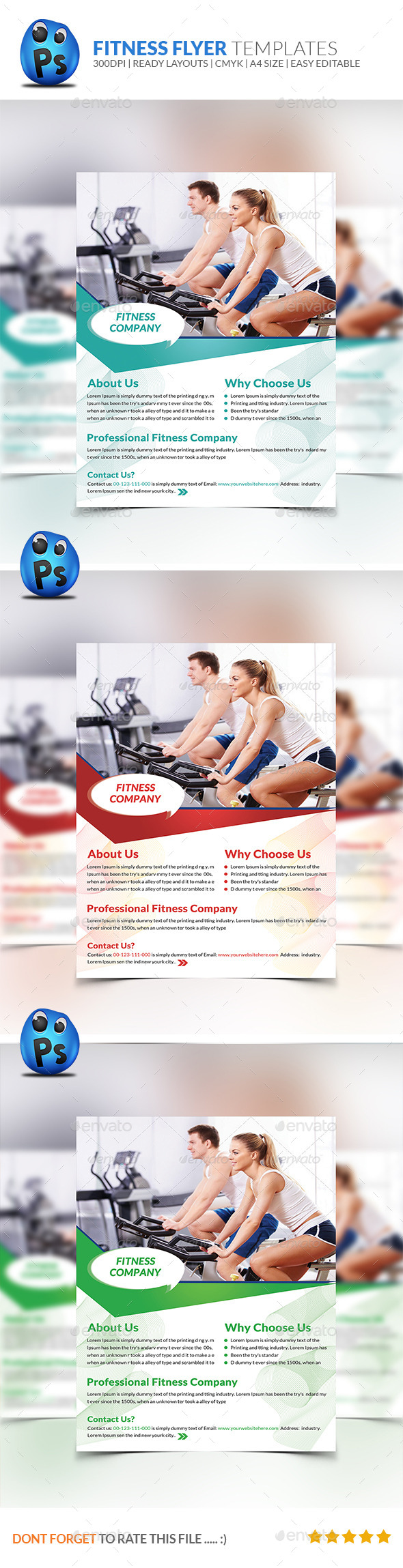 Fitness Flyer Print Templates - Sports Events