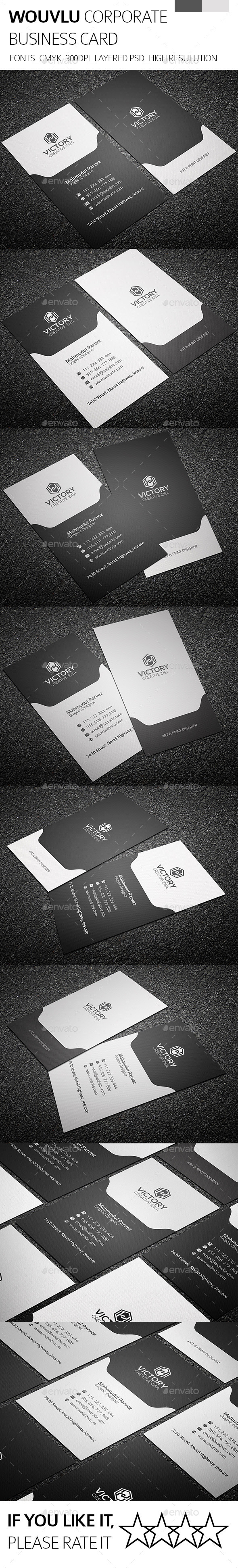 Wouvlu & Corporate Business Card - Corporate Business Cards