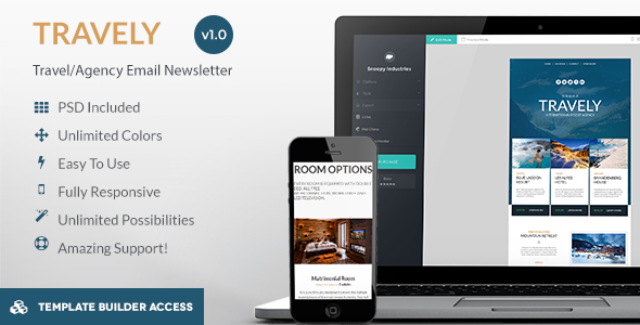 Travely – Tourism Email + Template Builder Access