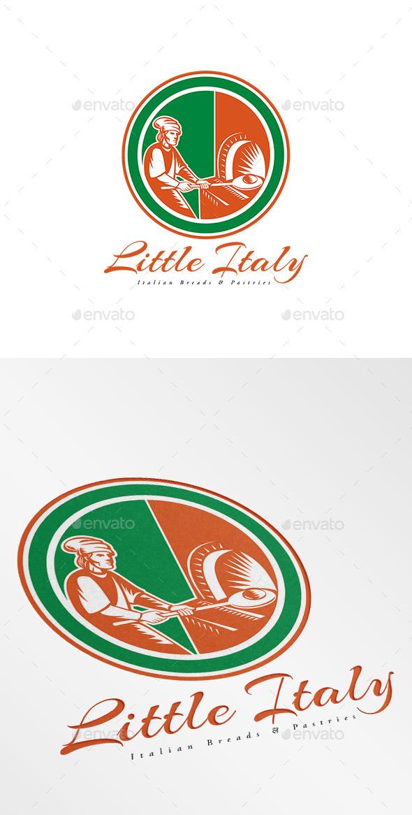 Little Italy Italian Breads Logo - Humans Logo Templates