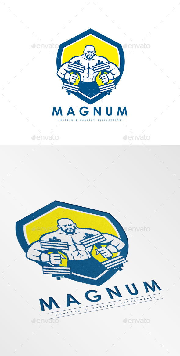 Magnum Protein Supplement Logo - Humans Logo Templates