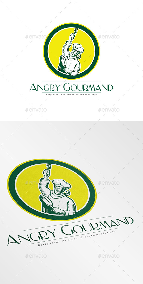 Angry Gourmand Logo - Humans Logo Templates