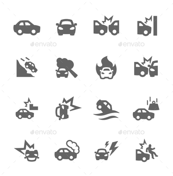 Car Crashes Icons - Objects Icons