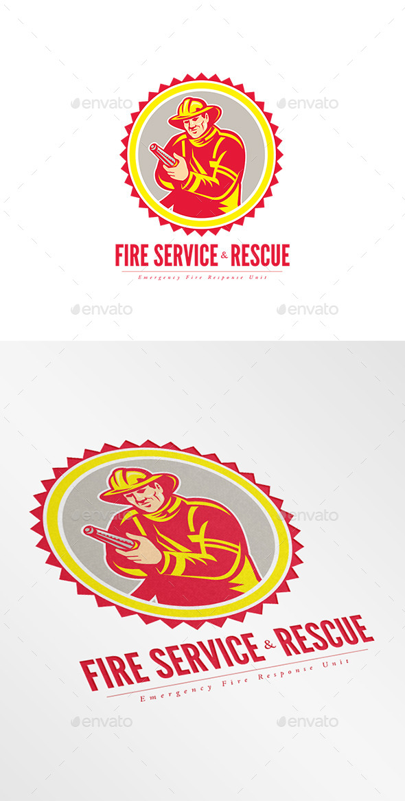 Fire Service and Rescue Logo - Humans Logo Templates