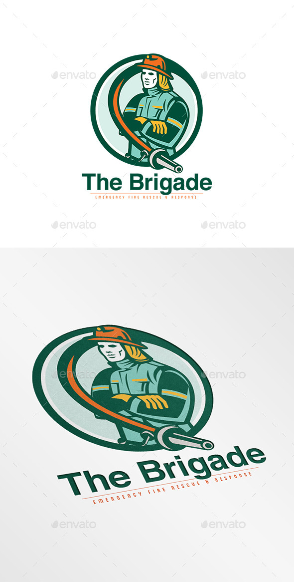Brigade Emergency Fire Rescue Logo - Humans Logo Templates