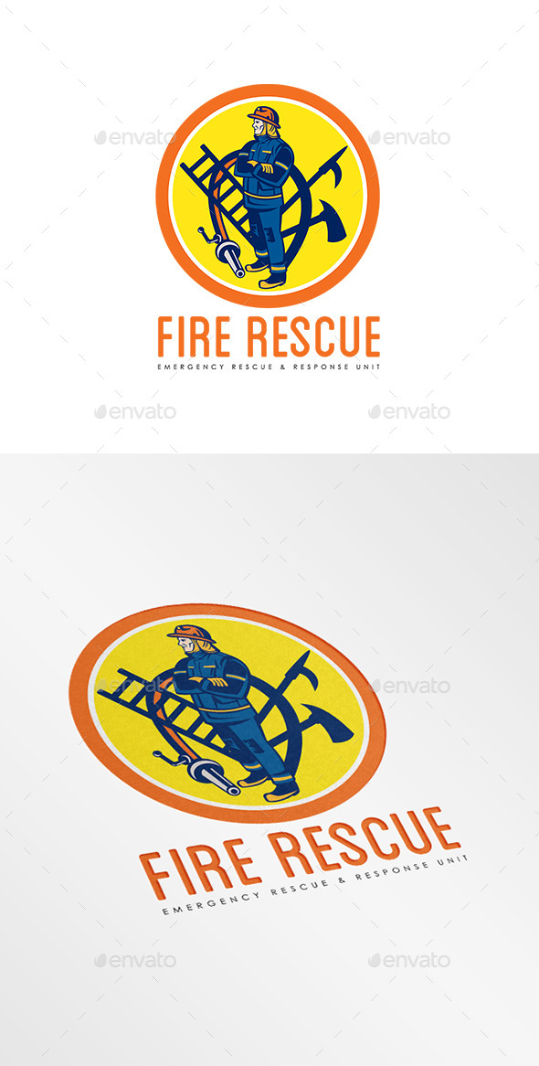 Fire Rescue Logo - Humans Logo Templates
