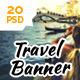Travel Web Ad Marketing Vol 2 - GraphicRiver Item for Sale