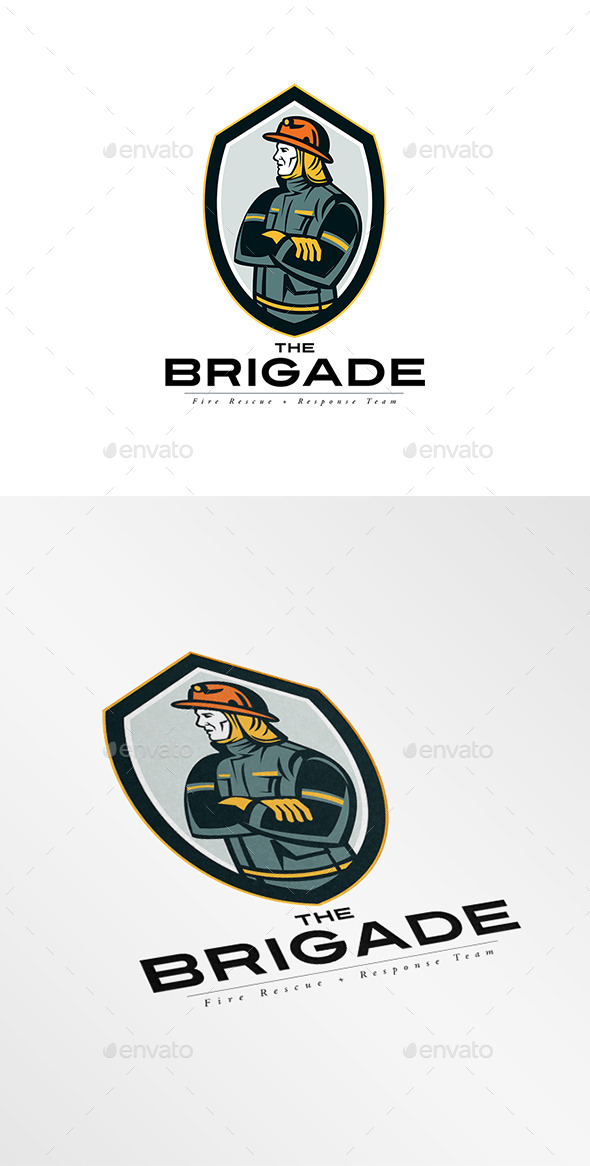 The Brigade Fire Rescue Team Logo - Humans Logo Templates