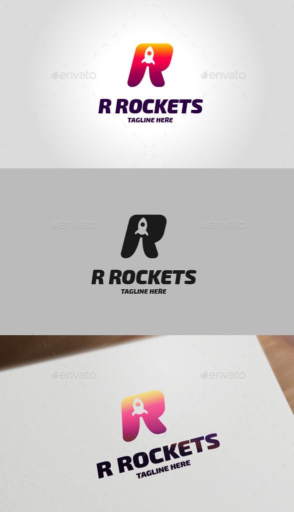 Rocket R Letter Logo