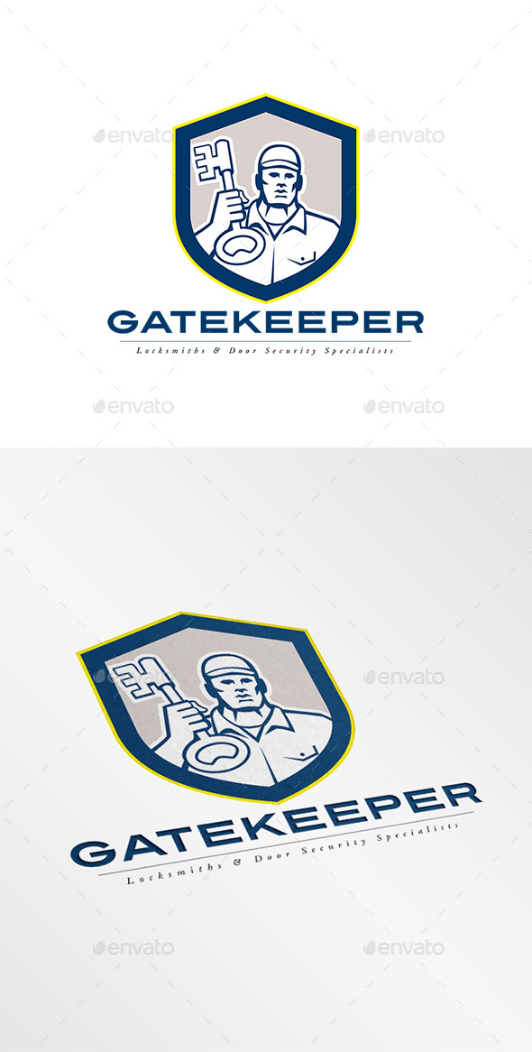 Gatekeeper Security Locks Specialists Logo - Humans Logo Templates