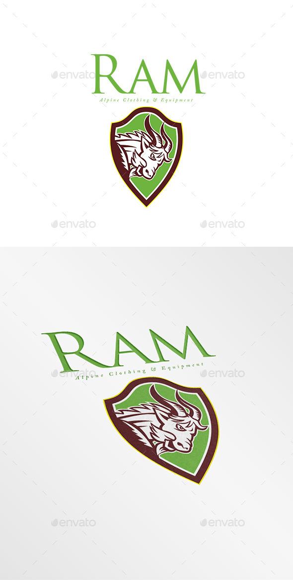 Ram Alpine Clothing Logo - Animals Logo Templates