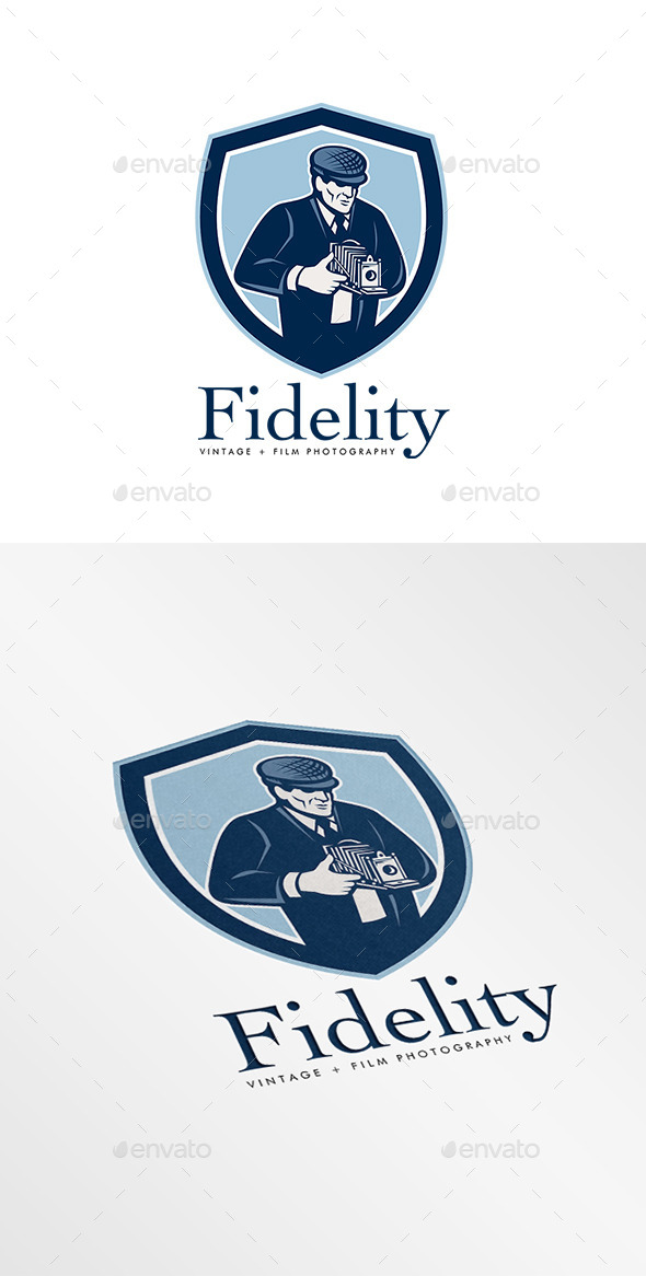 Fidelity Vintage Film Photography Logo - Humans Logo Templates