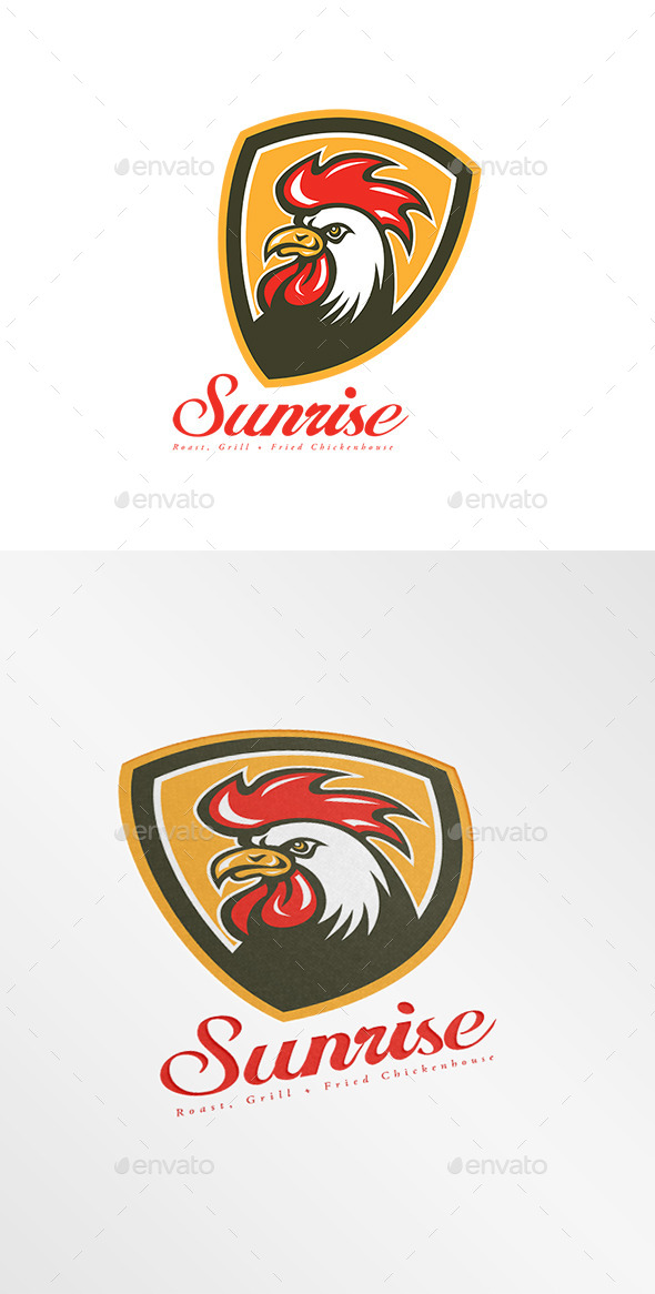 Sunrise Fried Chicken House Logo - Animals Logo Templates