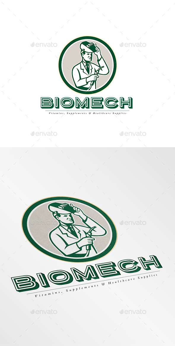 Biomech Vitamins Logo - Humans Logo Templates