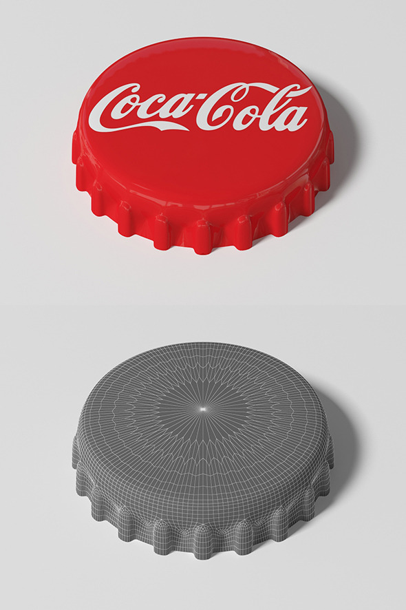 Coca Cola Bottle Tin Cap - 3DOcean Item for Sale