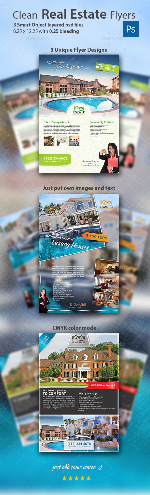 Clean Real Estate Flyers - Commerce Flyers