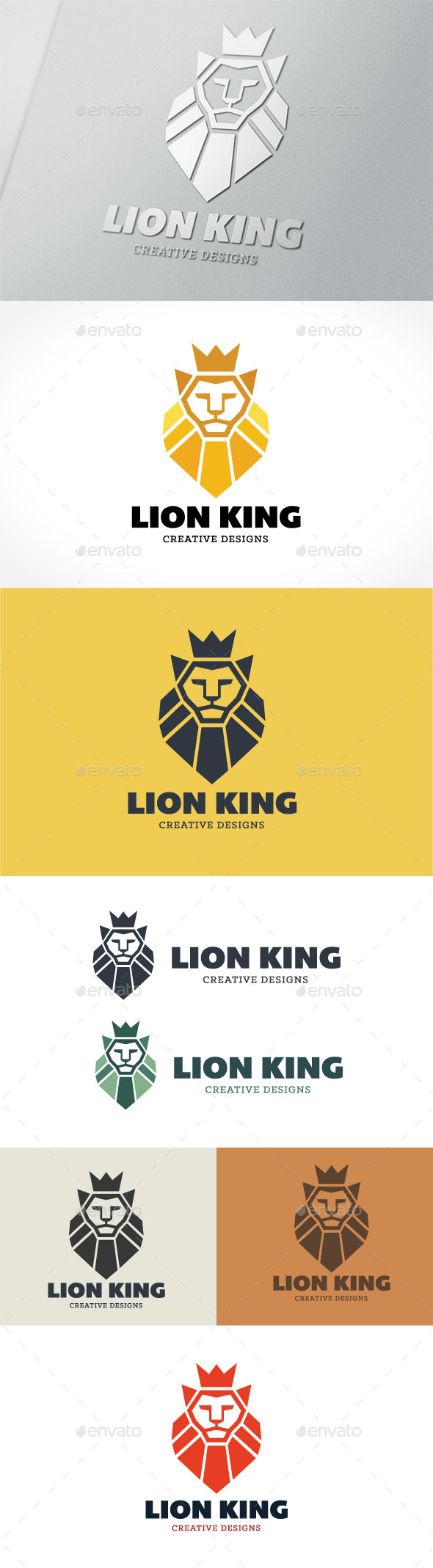 Lion King  - Crests Logo Templates