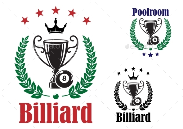 Billiard Trophy Cup - Sports/Activity Conceptual