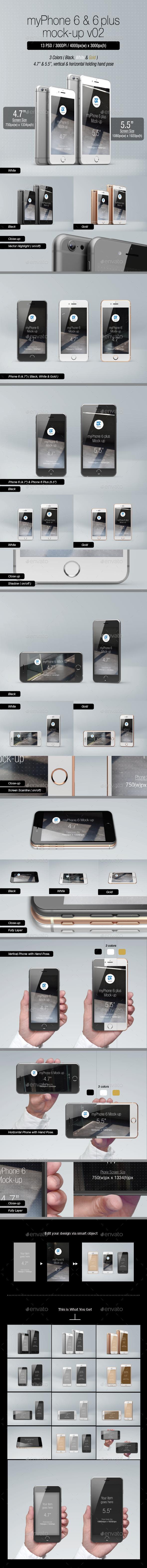 myPhone 6 Mock-up v02 - Mobile Displays