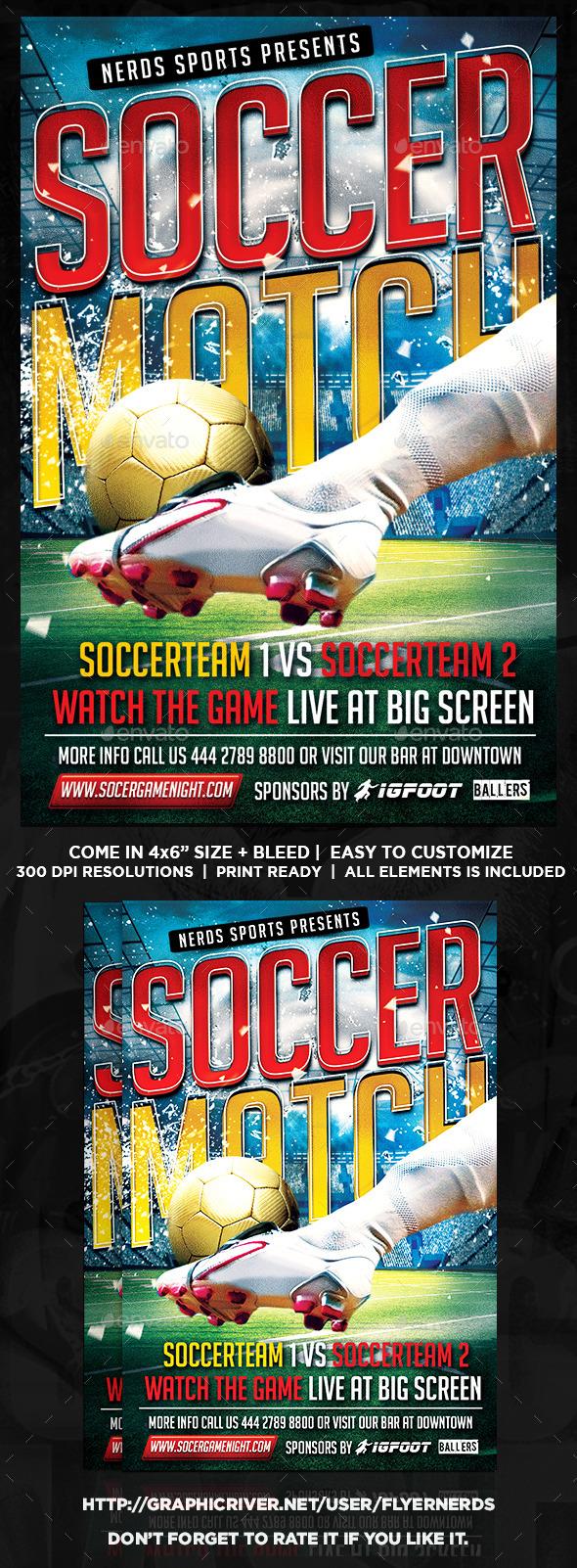 Soccer Match Flyer - Sports Events