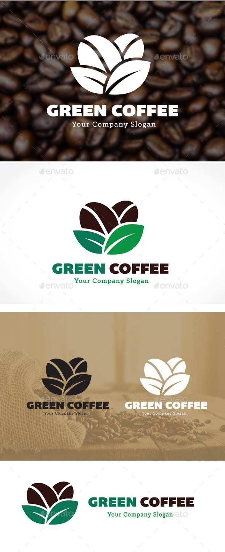 Green Coffee - Food Logo Templates