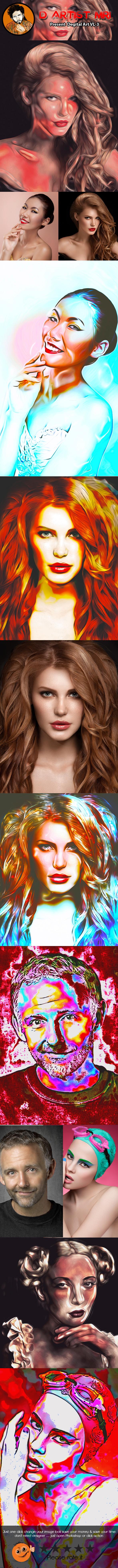 Degital Art VL-3 - Actions Photoshop