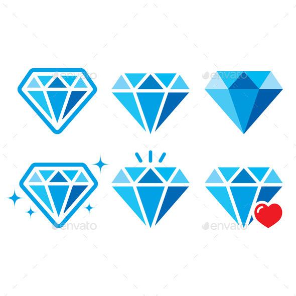 Diamond Icons - Decorative Symbols Decorative