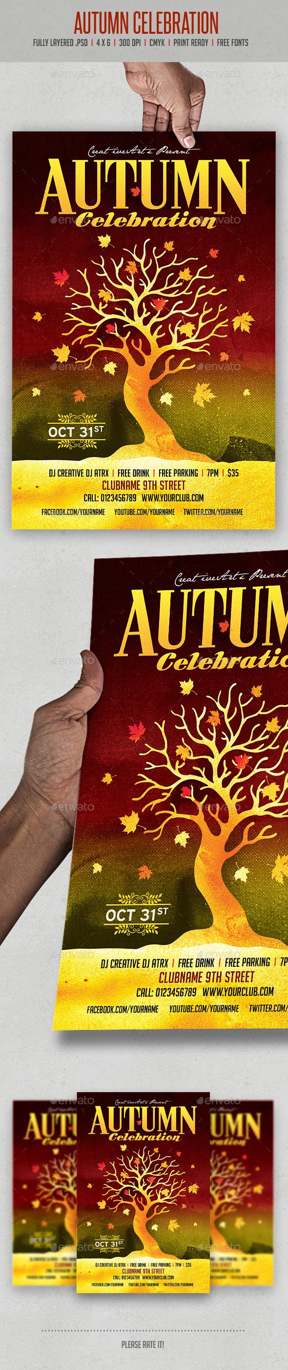 Autumn Celebration - Events Flyers