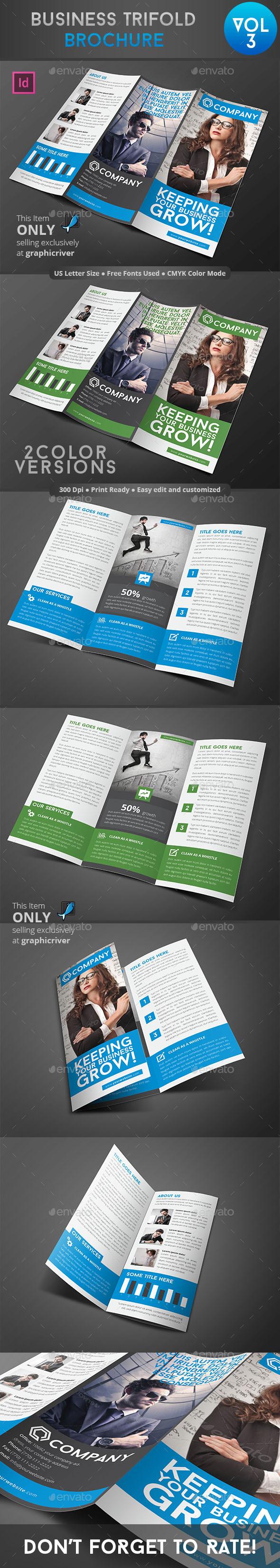 Business Trifold Brochure Vol 3 - Informational Brochures