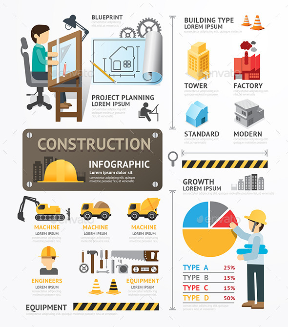 Construction Template Design Infographic - Infographics