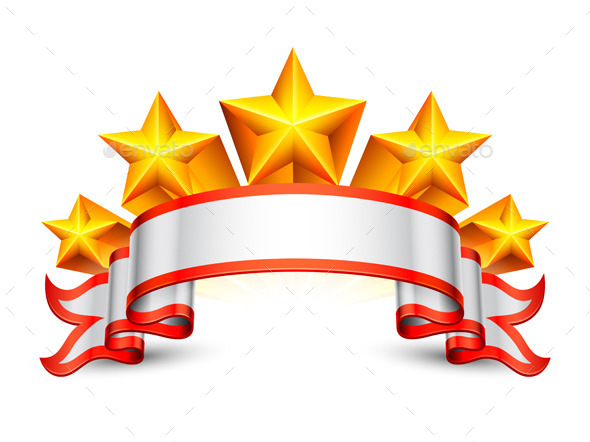 Stars Banner - Decorative Vectors