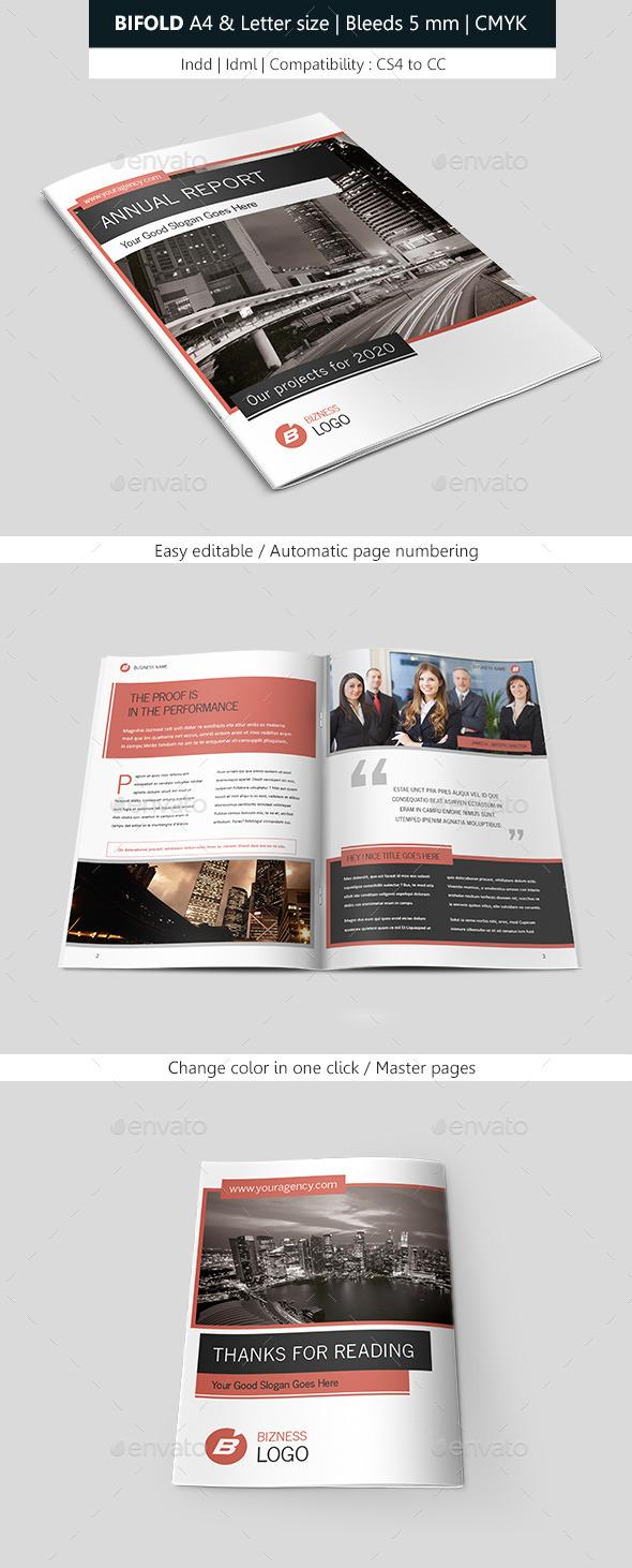 Bifold Business Brochure Template - Informational Brochures