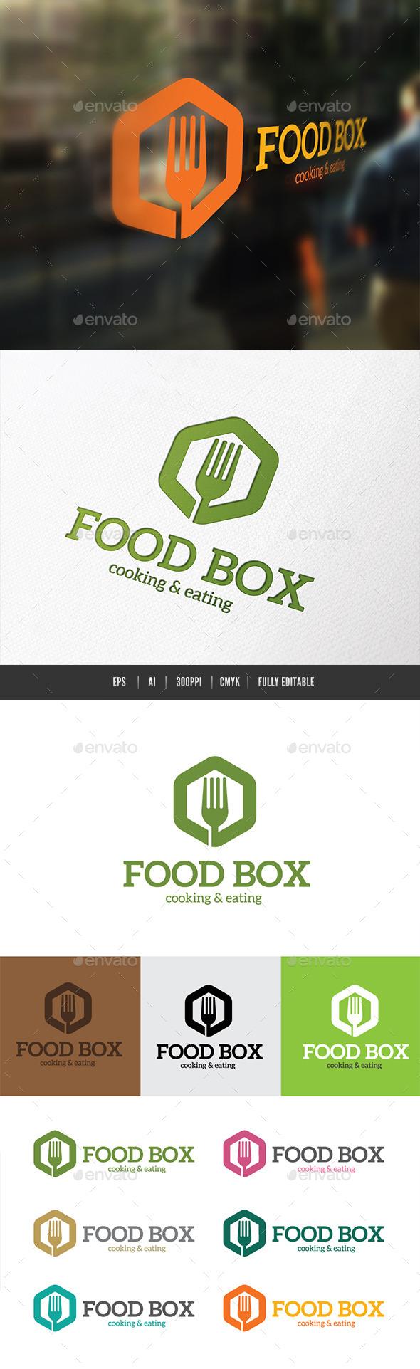 Food Box - Food Logo Templates