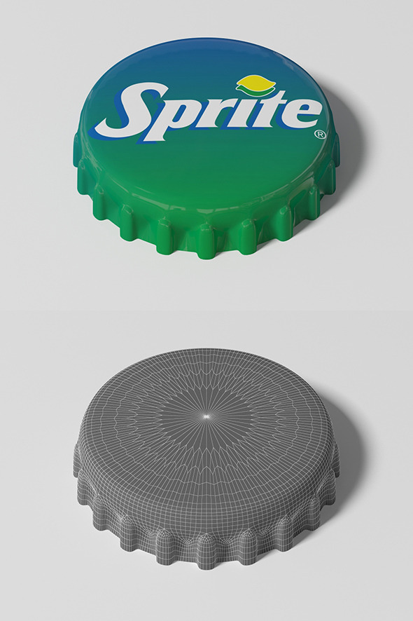 Sprite Bottle Tin Cap - 3DOcean Item for Sale