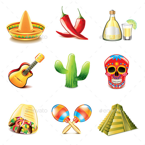 Mexican Culture Icons - Miscellaneous Vectors