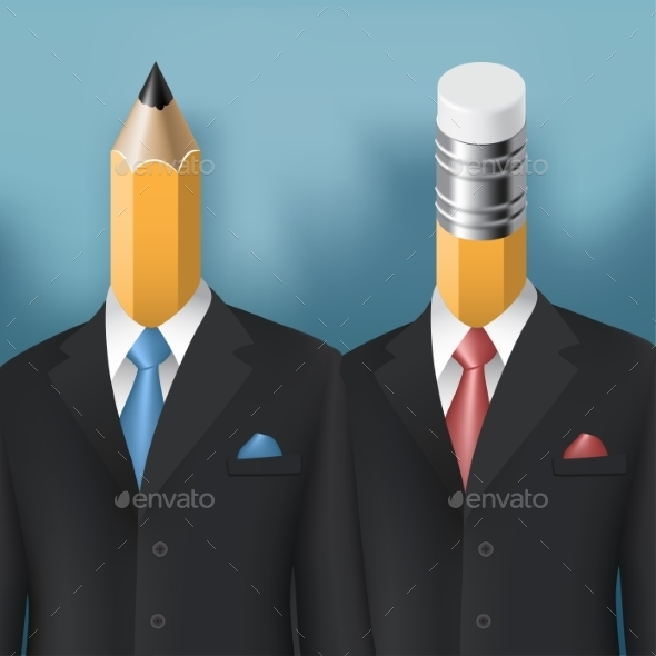 Pencil and Eraser Men - Concepts Business