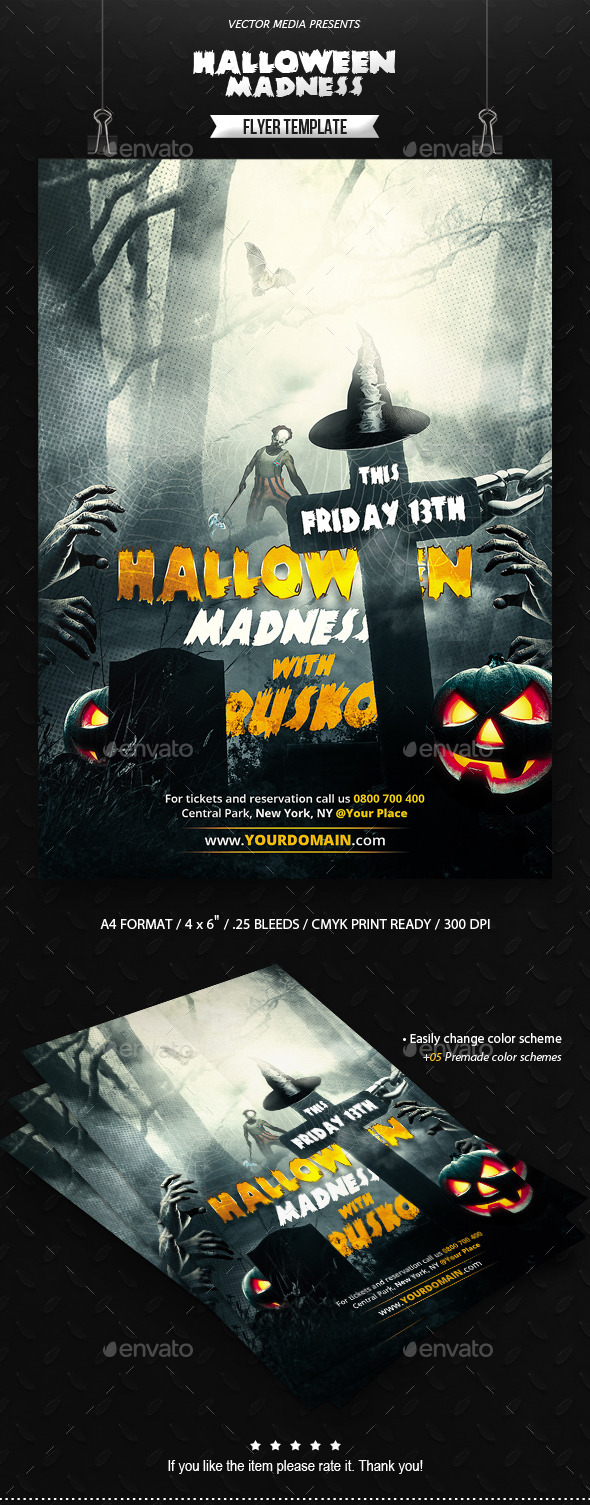Halloween Madness - Flyer - Clubs & Parties Events