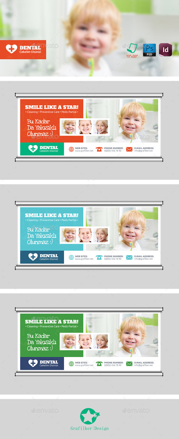 Dental Billboard Templates - Signage Print Templates
