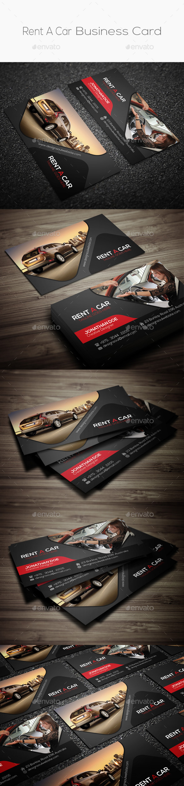 Rent A Car Business Card  - Industry Specific Business Cards