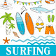 Hand Drawn Surfing Set - GraphicRiver Item for Sale