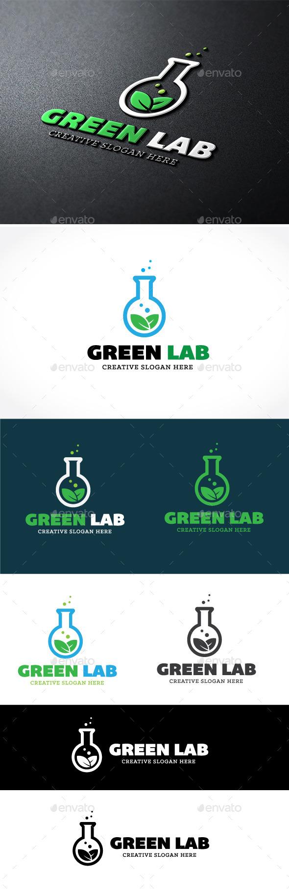 Green Lab - Nature Logo Templates