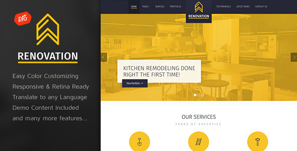 Renovation – Construction Company Theme