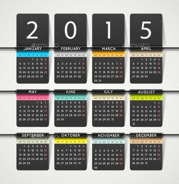 Calendar 2015 - New Year Seasons/Holidays