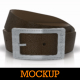 Plaque Leather Belts / Buckle Logo Mockup - GraphicRiver Item for Sale