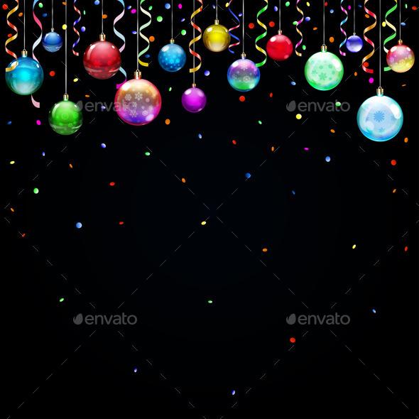 Christmas Background with Christmas Balls - Christmas Seasons/Holidays