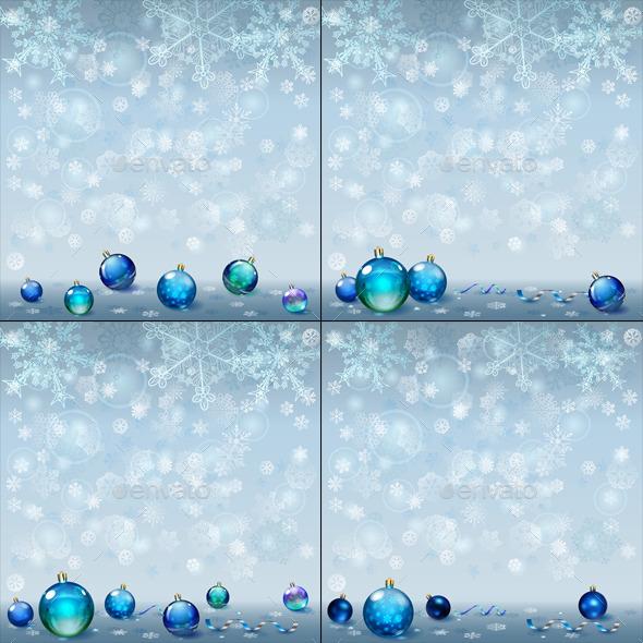 Christmas Backgrounds with Christmas Balls - Christmas Seasons/Holidays