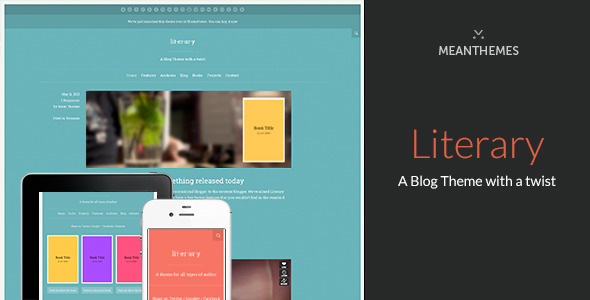 Literary: A WordPress Blog Theme With A Twist - Personal Blog / Magazine