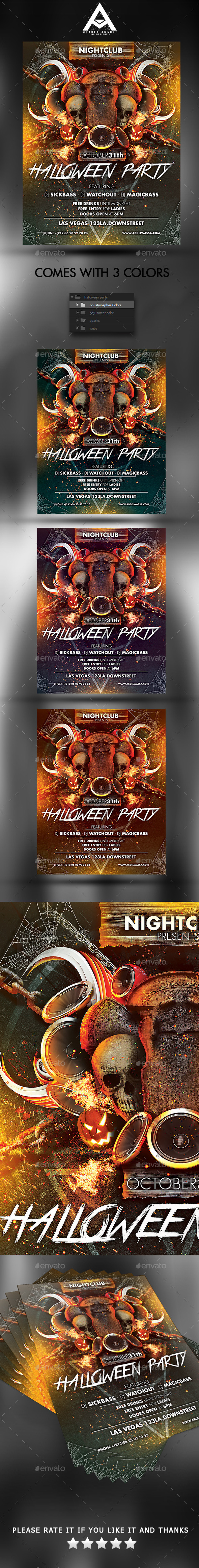 Halloween Party - Events Flyers